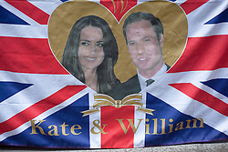 © under license to London News Pictures. 25/01/11. Souvenirs celebrating the upcoming wedding of Prince William and Kate Middleton in a shop window near Holborn. Credit should read Matt Cetti-Roberts/LNP