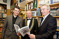 Founder of the Expect Success Academy, Galway based business and marketing strategist John Mulry launched his first book Your Elephant's Under Threat. At the launch the author himself John Mulry  , Jim Fennell, President of Galway Chamber and Dave Hickey Connacht Tribune.<br /> Your Elephant's Under Threat will be available from www.amazon.com and Charlie Byrne&rsquo;s Bookshop Galway from February 28th and retails at &euro;19.99<br /> &nbsp;Photo:Andrew Downes