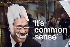 Auckland-NZ First Winston Peters billboard defaced