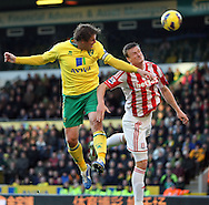 Picture by Paul Chesterton/Focus Images Ltd +44 7904 640267.03/11/2012.Grant Holt of Norwich heads for goal during the Barclays Premier League match at Carrow Road, Norwich.