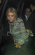 19.SEPTEMBER.2007. LONDON<br /> <br /> TARA REID ARRIVING AT CIPRIANI&rsquo;S RESTAURANT, MAYFAIR AT 9.30PM WITH SOME FRIENDS BEFORE LEAVING AT 12.00AM AND HEADED ONTO MOVIDA WHERE SHE STAYED UNTILL 3.30AM. SHE LEFT LOOKING VERY DRUNK AND RED EYED WITH SOME WHITE STUFF UP HER NOSE, SHE THEN SCRAMMBLED INTO THE CAR FRONTWAYS WITH HER EYES ROLLING AND WENT ONTO AUTOMAT RESTURANT BAR ,MAYFAIR.<br /> <br /> BYLINE: EDBIMAGEARCHIVE.CO.UK<br /> <br /> *THIS IMAGE IS STRICTLY FOR UK NEWSPAPERS AND MAGAZINES ONLY*<br /> *FOR WORLD WIDE SALES AND WEB USE PLEASE CONTACT EDBIMAGEARCHIVE - 0208 954 5968*