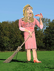 OCT 30 2013 Giant effigy of Katie Hopkins