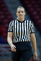 31 December 2009: Referee Kim Hobbs. The Bulldogs of Drake fall to the Redbirds of Illinois State University by a score of 77-58in a Missouri Valley Conference game on Doug Collins Court in Redbird Arena in Normal Illinois.