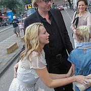 NLD/Amsterdam/20120713 - Vrijgezellenfeest Micky Hoogendijk en Adam Curry, aankomst