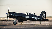 Chance-Vought F4U-7 Corsair of the Erickson Aircraft Collection taxiing.