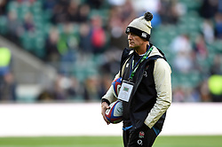 England Defence Coach John Mitchell looks on during the pre-match warm-up - Mandatory byline: Patrick Khachfe/JMP - 07966 386802 - 03/11/2018 - RUGBY UNION - Twickenham Stadium - London, England - England v South Africa - Quilter International