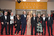 Director of the festival Thierry Fremaux, Director of photography Vittorio Storaro, guest, actors Corey Stoll, Blake Lively, Director Woody Allen, actors Kristen Stewart, Jesse Eisenberg and Pierre Lescure- 69TH CANNES FILM FESTIVAL 2016 - OPENING OF THE FESTIVAL WITH ' CAFE SOCIETY '<br /> ©Exclusivepix Media
