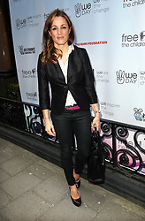 Natalie Pinkham arriving at the We Day event in London on  Monday, 22nd  April 2013 Photo by: Stephen Lock / i-Images