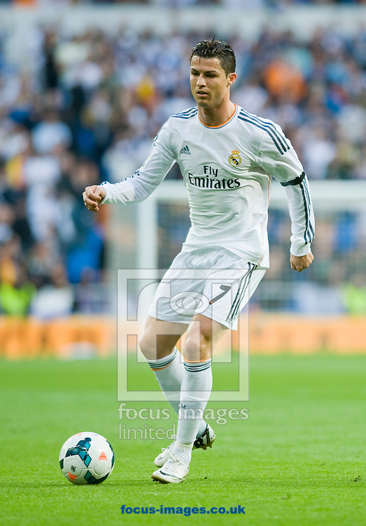 Cristiano Ronaldo of Real Madrid during the La Liga match at the Estadio Santiago Bernabeu, Madrid<br /> Picture by Marcos Calvo Mesa/Focus Images Ltd +34 654142934<br /> 26/04/2014