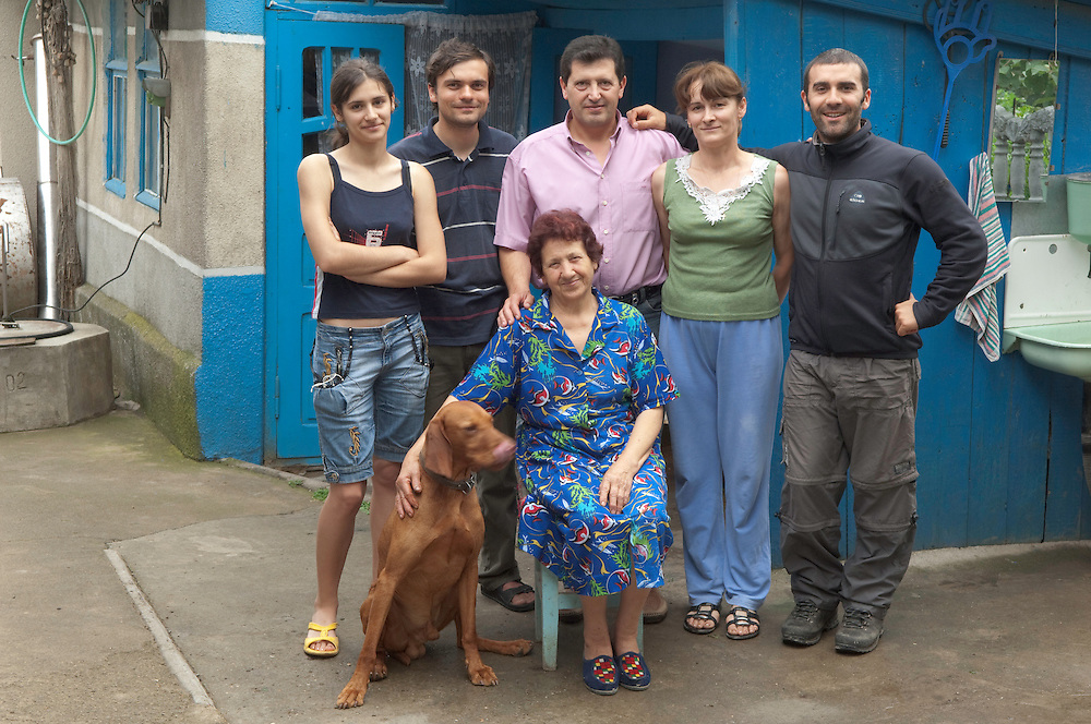 Portrait of local people,  the village Slobozia Mare near lake Belau, South West of Moldova