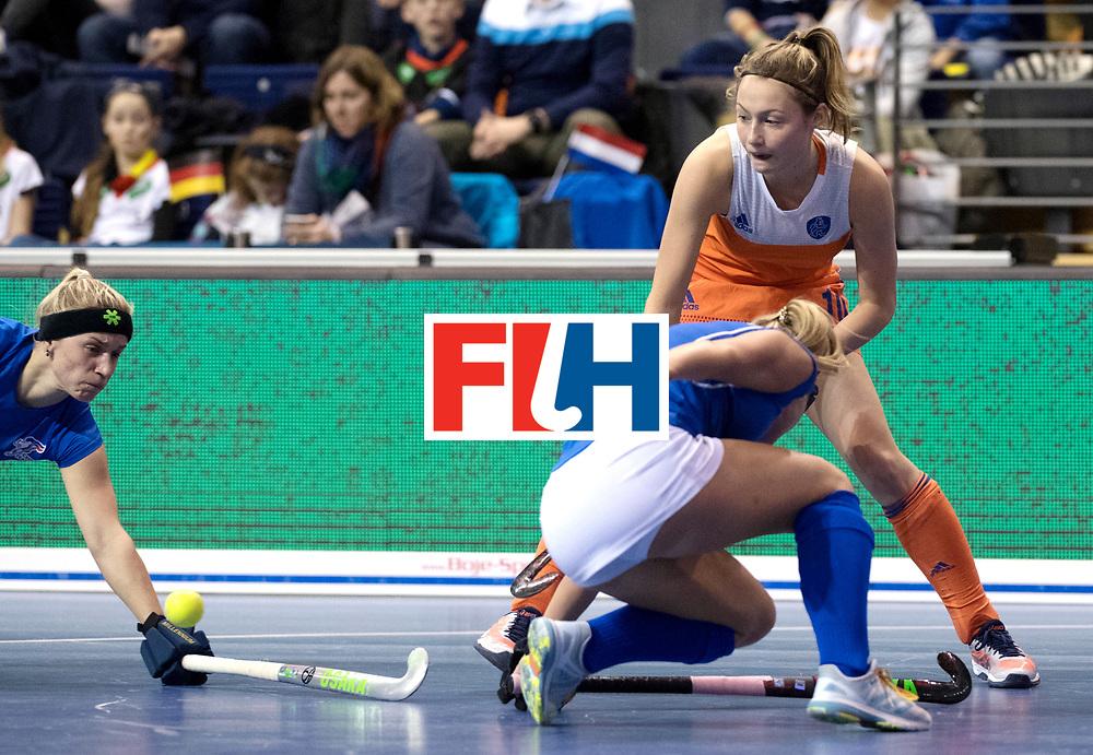 BERLIN - Indoor Hockey World Cup<br /> Quarterfinal 4: Netherlands - Czech Republic<br /> foto: Marijn Veen.<br /> WORLDSPORTPICS COPYRIGHT FRANK UIJLENBROEK