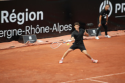 May 22, 2018 - Lyon, France - DOMINIC THIEM DURING THE MATCH FOR  ATP 250 IN LYON 22.05.2018 (Credit Image: © Panoramic via ZUMA Press)