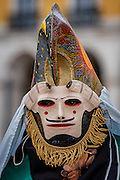 One of the many masked traditions of the Galicia province, in Northern Spain, is the colorful and elaboratly painted masks of Las Pantallas de Xinzo de Limia.