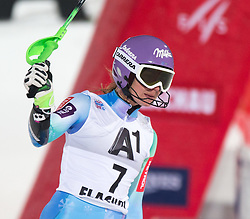 13-01-2015 AUT: Alpine Skiing World Cup, Flachau<br /> second placed Tina Maze of Slovenia reacts after her 2nd run of the ladie's Slalom of the FIS Ski Alpine World Cup at the Hermann Maier Weltcupstrecke in Flachau<br /> <br /> ***NETHERLANDS ONLY***