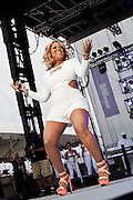 Monifah performs at the African American Festival on Saturday, June 21, 2014 in Baltimore, MD.