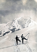 Skiing at the La Clusaz ski resort in the French Alps 1934