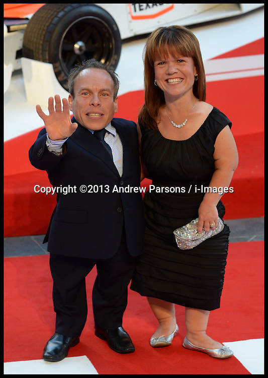Rush - UK film premiere. <br /> Warwick Davis during the 'Rush' - UK film premiere, Odeon, London, United Kingdom. Monday, 2nd September 2013. Picture by Andrew Parsons / i-Images