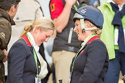 Zara Philips, (GBR), Kristina Cook - Jumping Eventing - Alltech FEI World Equestrian Games™ 2014 - Normandy, France.<br /> © Hippo Foto Team - Jon Stroud<br /> 31-08-14
