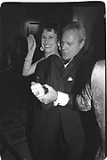 Carla Powell dancing with Taki Theodocopulos.  Paris 1996.<br /> <br />  , -DO NOT ARCHIVE-© Copyright Photograph by Dafydd Jones. 248 Clapham Rd. London SW9 0PZ. Tel 0207 820 0771. www.dafjones.com.