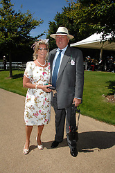 MAJOR CHRISTOPHER & MRS HANBURY at the 4th day of the Glorious Goodwood racing festival 2007 held at Goodwood Racecourse, West Sussex on 3rd August 2007.<br /><br />NON EXCLUSIVE - WORLD RIGHTS