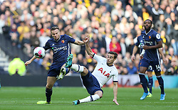 Harry Winks of Tottenham Hotspur and Tom Cleverley of Watford challenge for the ball - Mandatory by-line: Arron Gent/JMP - 19/10/2019 - FOOTBALL - Tottenham Hotspur Stadium - London, England - Tottenham Hotspur v Watford - Premier League