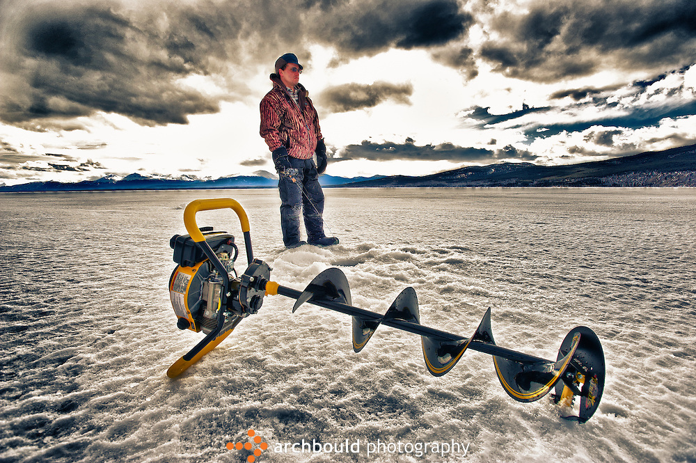 Ice fishing in the Yukon with sometimes up to 6 feet of ice means you depend on your powered auger.