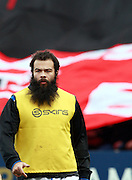 Kane Palma-Newport warms up for Bath. Stade Toulousain v Bath, European Champions Cup 2015, Stade Ernest Wallon, Toulouse, France, 18th Jan 2015.