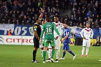 Said ENNJIMI / Jean Louis LECA / Isaac Kiese THELIN  - 24.01.2015 - Bastia / Bordeaux  - 22eme journee de Ligue1<br /> Photo : Michel Maestracci / Icon Sport *** Local Caption ***