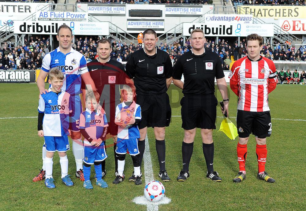 - Photo mandatory by-line: Neil Brookman/JMP - Mobile: 07966 386802 - 21/02/2015 - SPORT - Football - Bristol - Memorial Stadium - Bristol Rovers v Altrincham - Vanarama Football Conference