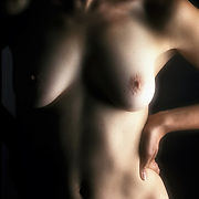 Artistic female nude study a play of light and shadows