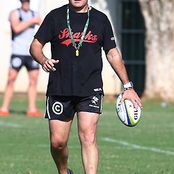 DURBAN, SOUTH AFRICA, 22 January 2016 - Gary Gold (Sharks Director of Rugby)  during The Cell C Sharks Pre Season training for the 2016 Super Rugby Season at Growthpoint Kings Park in Durban, South Africa. (Photo by Steve Haag)<br /> images for social media must have consent from Steve Haag