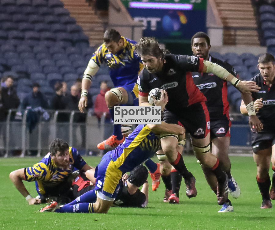 Edinburgh #4. Ben Toolis on the charge.<br />   Edinburgh Rugby v Zebre,  28th October 2016
