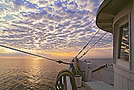 Miss Nancy fishing Boat at dawn, Long Island Sound, New York, Greenport, North Fork, Connecticut,