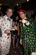 GARRET MOORE, PHILIP COLBERT, Gazelli host The Colbert Art Party last night at  LouLou's, The Bauer in Venice, Venice Biennale, Venice. 7 May 2015