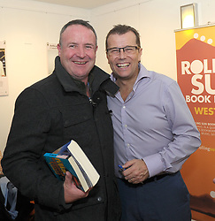 Mick Fahy Castlebar with author Paul Howard at the opening of the Rolling Sun Book festival on friday last. Pic Conor McKeown