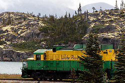 Engine number 110 on the White Pass and Yukon Route Railway, Skagway, Alaska, United States of America