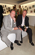 Brian Aris and Gary Farrow. 30 Years of Celebrity Photography by Richard young, The Hospital. 9 June 2004. ONE TIME USE ONLY - DO NOT ARCHIVE  © Copyright Photograph by Dafydd Jones 66 Stockwell Park Rd. London SW9 0DA Tel 020 7733 0108 www.dafjones.com
