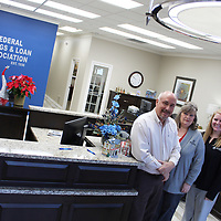 From left, Dale Tate, Samantha Williams, Brittany Irvin and Debbie Lampkin have nearly 70 collective years of service at First Federal Savings & Loan in Aberdeen.