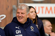 AFC Wimbledon Manager Glyn Hodges  during the EFL Sky Bet League 1 match between Blackpool and AFC Wimbledon at Bloomfield Road, Blackpool, England on 16 November 2019.