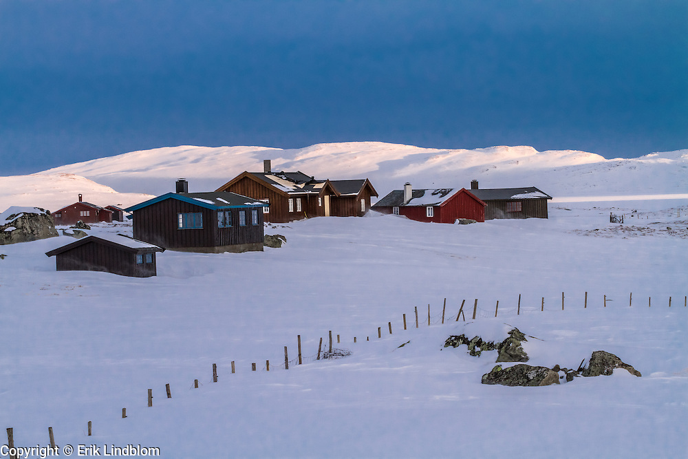 Some cozy cottages in jotunheimen, Norway.
