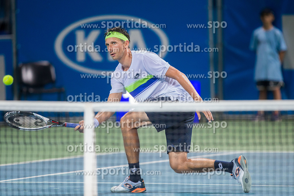 Sergiy Stakhovsky (UKR) in action during Quarterfinals of tennis tournament  ATP Challenger Zavarovalnica Sava Slovenia Open 2017, on August 10, 2017 in Sports centre, Portoroz/Portorose, Slovenia. Photo by Vid Ponikvar / Sportida