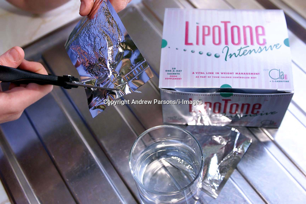 Feature pictures on intensive weight management sachets Lipotone. .Photo by Andrew Parsons/i-Images.All Rights Reserved ©Andrew Parsons/i-images.See Instructions.