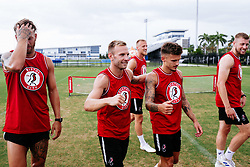 Andreas Weimann and Jamie Paterson of Bristol City during a head tennis session in the afternoon of day 5 - Rogan/JMP - 15/07/2019 - IMG Academy, Bradenton - Florida, USA - Bristol City Pre-Season Tour Day 5.