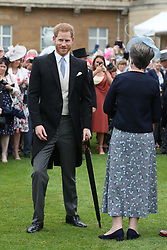 May 29, 2019 - London, London, United Kingdom - Image licensed to i-Images Picture Agency. 29/05/2019. London, United Kingdom. Prince Harry, The Duke of Sussex, at a Royal Garden Party at Buckingham Palace in London. (Credit Image: © Pool/i-Images via ZUMA Press)
