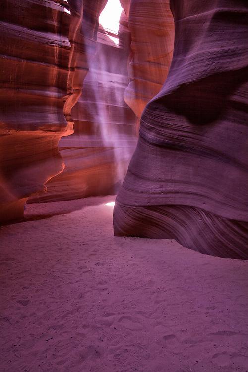 Shards of light slice into Antelope upper canyon
