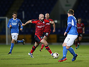 06/10/2017 - St Johnstone v Dundee - Dave Mackay testimonial at McDiarmid Park, Perth, Picture by David Young - Gary Harkins on a trademark mazy run