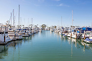 Boats Docked at the Dana Point Harbor in Orange County California