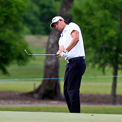 2009 April 26: John Mallinger of Long Beach, CA on the seventh hole during the final round of the Zurich Classic of New Orleans PGA Tour golf tournament played at TPC Louisiana in Avondale, Louisiana.