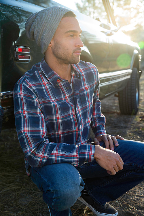 Forbes Ranch Road,CA for Wrangler Fall 2016 fashion shirt with green truck