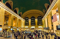 Main Concourse, Grand Central Station, New York, New York USA.